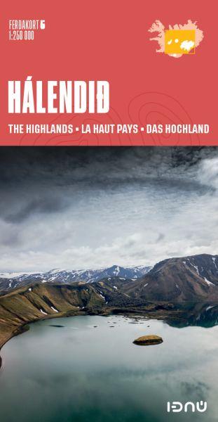 Ferdakort 5: Island Zentral, Halendid, topographische Straßenkarte 1:250.000