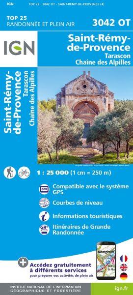 IGN 3042 OT Tarascon, St-Remy-de-Provence, Frankreich Wanderkarte 1:25.000
