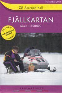 Fjällkartan Z5 Schweden Trekking- und Wintersportkarte 1:100.000
