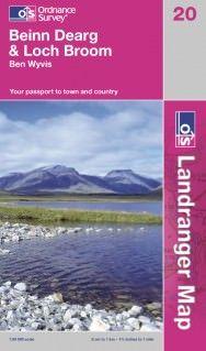 Landranger 20 Beinn Dearg & Loch Broom Wanderkarte 1:50.000 - OS / Ordnance Survey