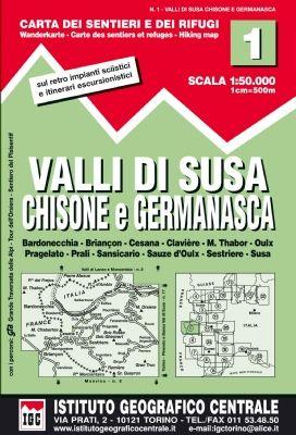 IGC 1 - Wanderkarte für Valli di Susa 1:50.000