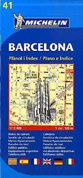 Michelin 41 Barcelona Stadtplan 1:12.000