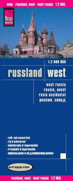 Russland West Landkarte 1:2.000.000, Reise Know-How