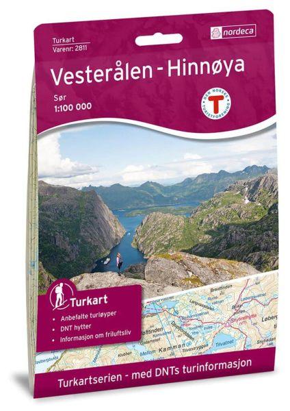 Vesteralen (Vesterålen) - Hinnoya Süd Wanderkarte 1:100.000 – Norwegen, Turkart 2811 von Nordeca