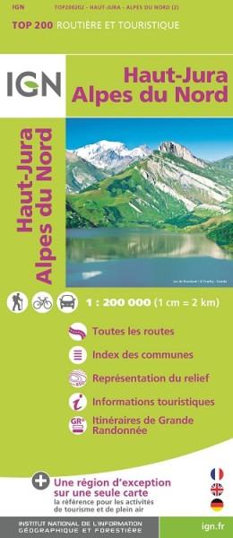 Haute-Jura / Alpes du Nord Freizeitkarte 1:200.000 von IGN