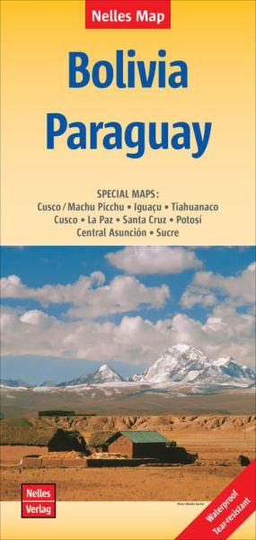 Nelles Maps, Bolivien - Paraguay 1:2.500.000, wasser- und reißfest