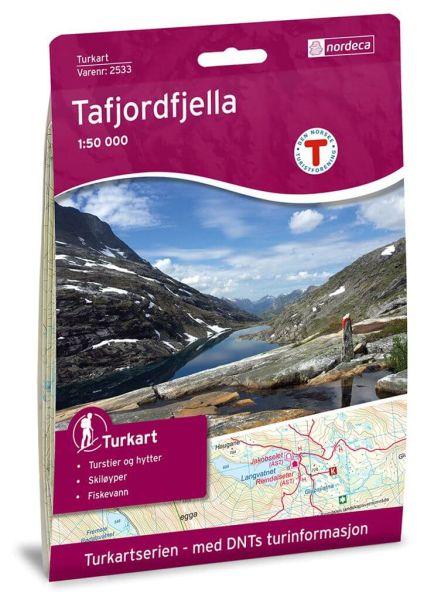Tafjordfjella Wanderkarte 1:50.000 – Norwegen, Turkart 2533 von Nordeca