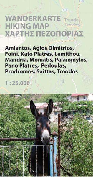 Troodos-Region - Zypern Wanderkarte 1:25.000