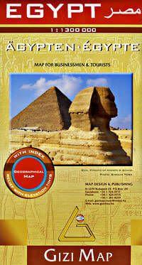 Ägypten Straßenkarte 1:1.300.000, Gizi Map