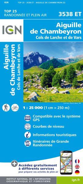 IGN 3538 ET Aiguille de Chambeyron, Frankreich Wanderkarte 1:25.000