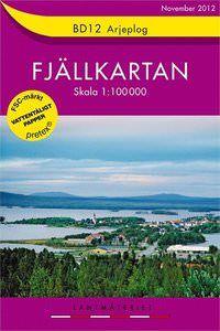 Fjällkartan BD12 Schweden Trekking- und Wintersportkarte 1:100.000