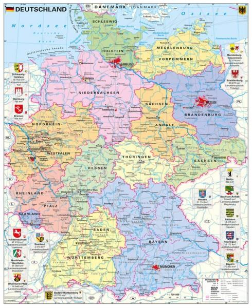 Deutschland politisch groß, Poster, Stiefel Verlag 97x119 cm