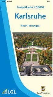 Karlsruhe Freizeitkarte in 1:50.000 - F516 mit Rad- und Wanderwegen