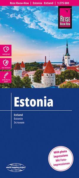 Estland Landkarte 1:275.000, Reise Know-How