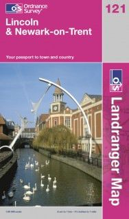 Landranger 121 Lincoln & Newark-on-Trent Wanderkarte 1:50.000 - OS / Ordnance Survey