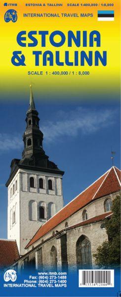 Estland Landkarte 1:400.000 & Tallinn 1:8.000, ITM