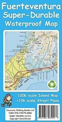 Fuerteventura Wanderkarte 1:100.000 Tour & Trail Map, reiss- und wasserfest