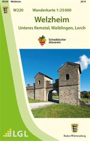 Welzheim W220, Wanderkarte 1:25.000 Schwäbischer Albverein