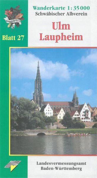 Ulm - Laupheim Wanderkarte 1:35.000 Schwäbischer Albverein