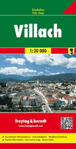 Villach, Stadtplan 1:20.000, Freytag und Berndt