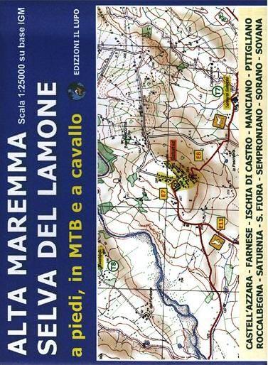 Wanderkarte für Alta Maremma - Selva del Lamone 1:25.000 - Il Lupo Nr. 1