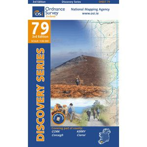 OSI 79 Cork, Kerry, Wanderkarte Ordnance, Survey Ireland