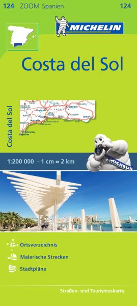Michelin zoom 124 Costa del Sol Straßenkarte 1:200.000