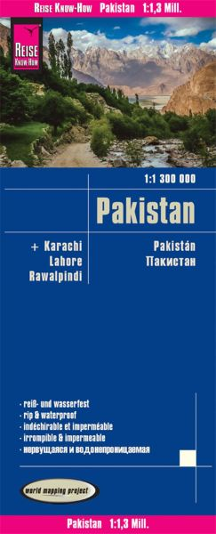 Pakistan Landkarte 1:1.300.000, Reise Know-How