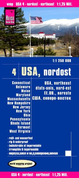 USA 4 Nordost Landkarte 1:1.250.000, Reise Know-How