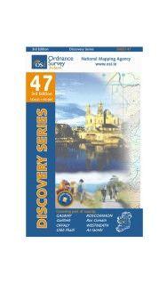 OSI 47 Galway, Offaly, Roscommon, Westmeath Wanderkarte 1:50.000