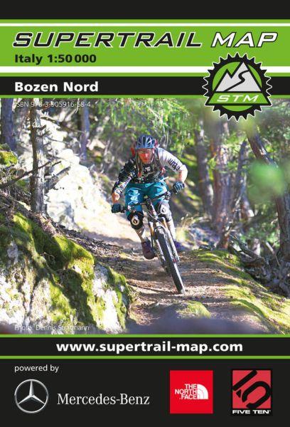 Supertrail Map Bozen Nord Mountainbike-Karte 1:50.000, Wasser- und reissfest (STM)
