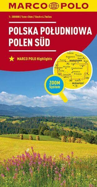 Marco Polo: Polen Süd Straßenkarte 1:300.000