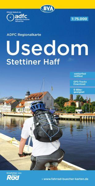ADFC-Regionalkarte, Usedom, Stettiner Haff, Radwanderkarte