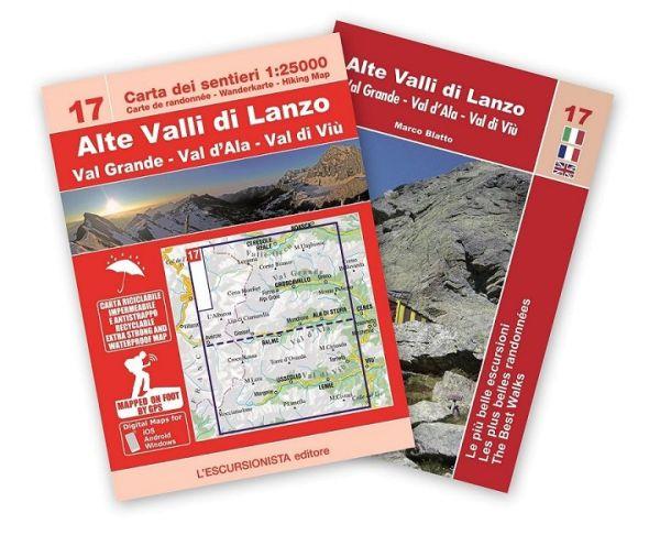 Alte Valli di Lanzo Wanderkarte 1:25.000, L'Escursionista editore Bl. 17