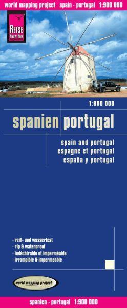 Spanien, Portugal Landkarte 1:900.000, Reise Know-How