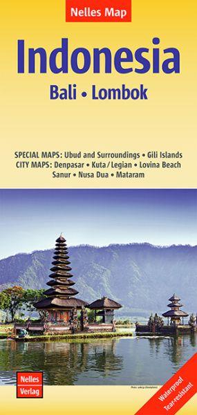Nelles Maps, Indonesien: Bali, Lombok 1:180.000, wasser- und reissfest