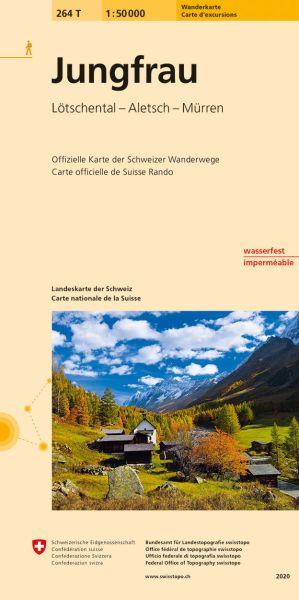 264 T Jungfrau Wanderkarte 1:50.000 - Swisstopo