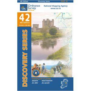 OSI 42 Meath, Westmeath, Wanderkarte
