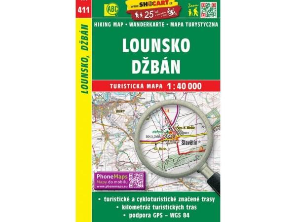 Lounsko / Laun Wanderkarte 1:40.000 - SHOCart 411