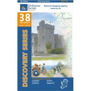 OSI 38 Galway, Mayo (S CENT) Wanderkarte 1:50.000 - Ordnance Survey Ireland