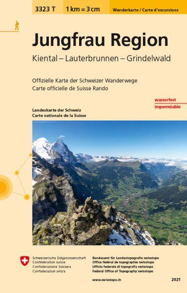 3323 T Jungfrau Region Wanderkarte 1:33.333 wetterfest - Swisstopo