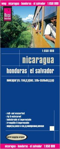 Nicaragua, Honduras, El Salvador Landkarte 1:650.000, Reise Know-How
