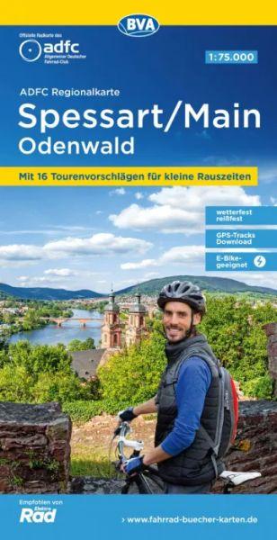 ADFC-Regionalkarte, Spessart, Main, Odenwald, Radwanderkarte