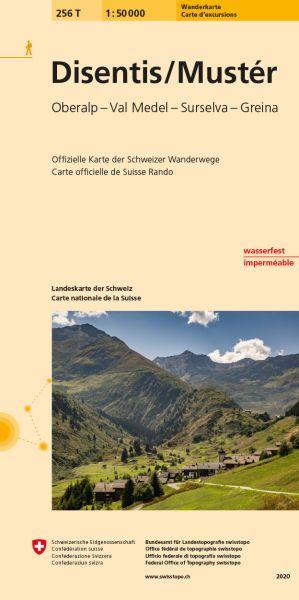 256 T Disentis / Muster Wanderkarte 1:50.000 - Swisstopo
