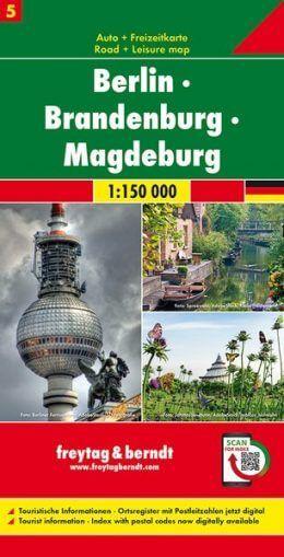 Berlin, Brandenburg, Magdeburg Autokarte im Maßstab 1:150.000 - Freytag&Berndt Karte 5