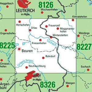 8226 ISNY I.ALLG.-NORD topographische Karte 1:25.000 Baden-Württemberg, TK25