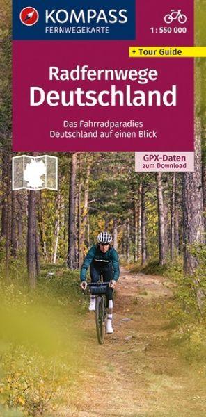 Fernradwege Deutschland Übersichtskarte 1:550.000, Kompass Ratourenkarte 2560