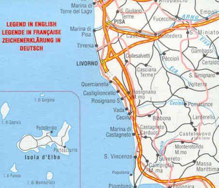 Edition Multigraphic 224, Pisa - Livorno Toskana, 1:100.000