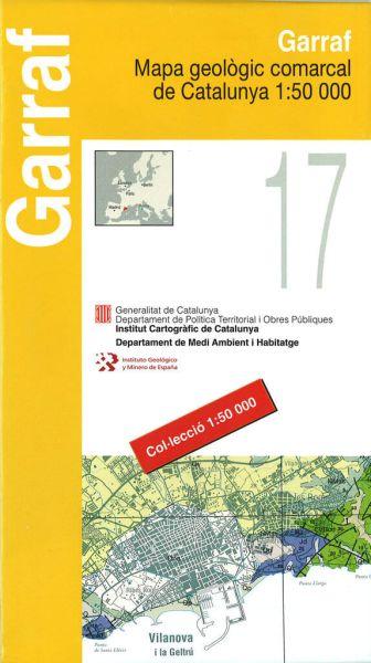 Garraf, Katalonien topographische Karte, Spanien 1:50.000, ICC 17