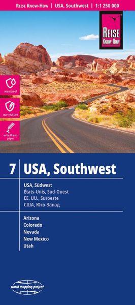 USA 7 Südwest Landkarte 1:1.250.000, Reise Know-How